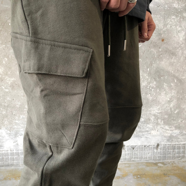 Fleece Cotton , Large Side Pockets Trousers, Screw Tops, Casual Pants Jogger , SWEATPANT