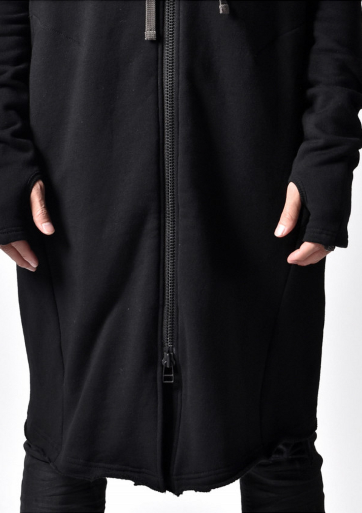 DarkShadow Long Oversized Full-zip Hoodie