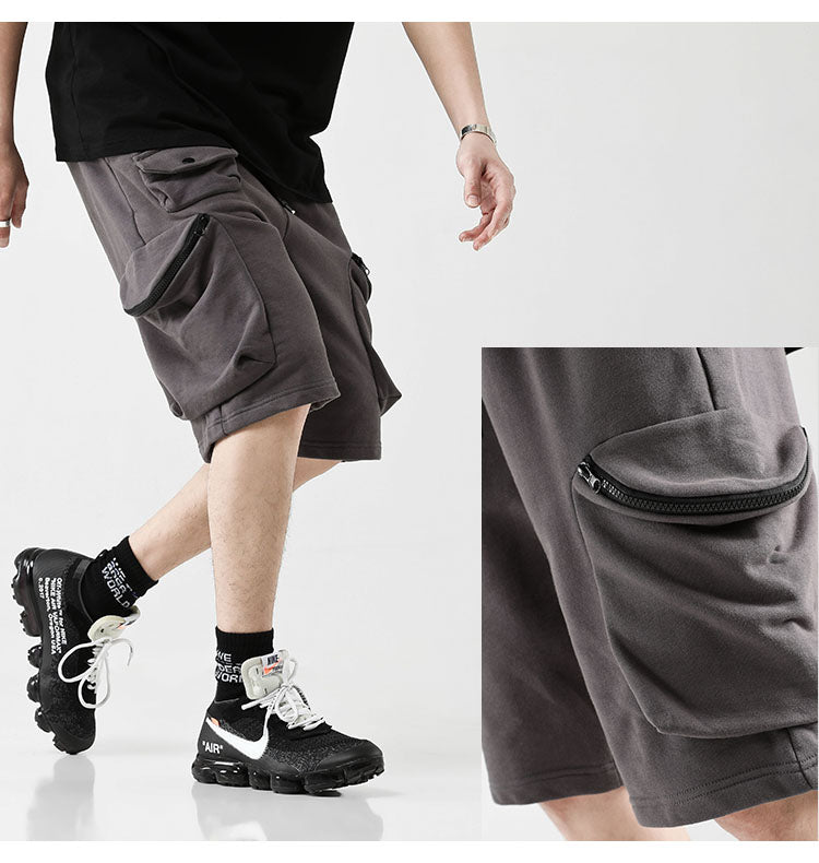 Summer Europe and America Street Hip-hop Loose Multi-Bag Tooling Pocket Pants Shorts / Sports Shorts