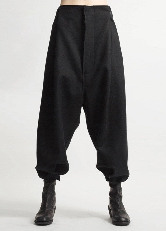 Futuristic Original Ofelya Ladies Woolen Trousers / Casual Drop Crotch Harem Pants - Big Carrot Pants Hanging Crotch Pants Collapse
