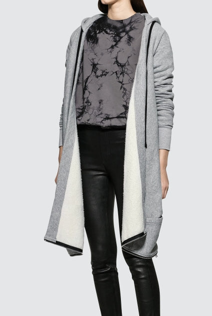 Open Cape Style Women Hoodie / Cardigan Asymmetric Cut