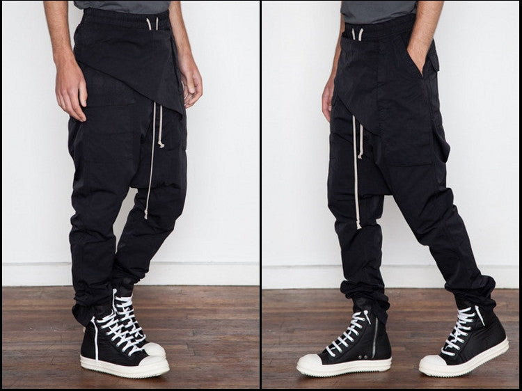 Darkshd Drop Crotch Tapered Trouser Harem Pants Jogger