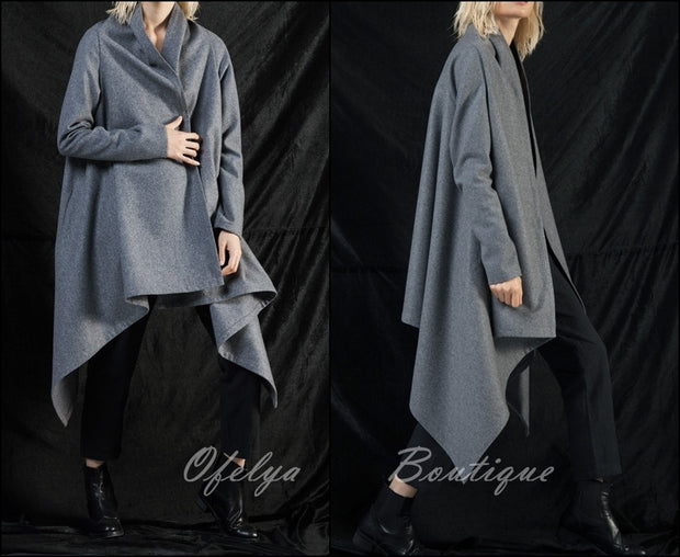 Autumn Original Ofelya Designs Woolen Coat Windbreaker Cardigan Jacket Women