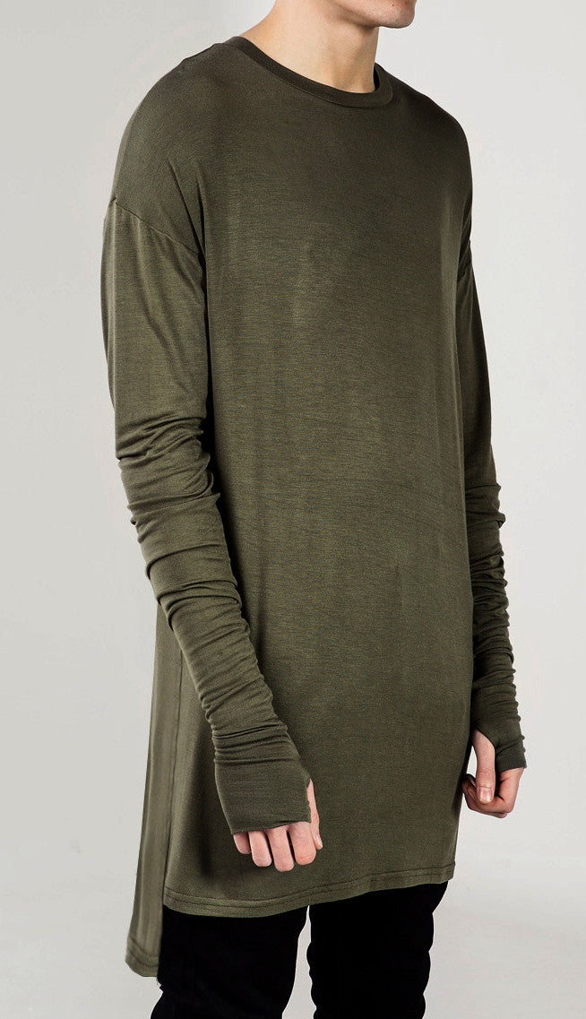 Extended Essential Long Sleeve Drop Back Under T-shirt