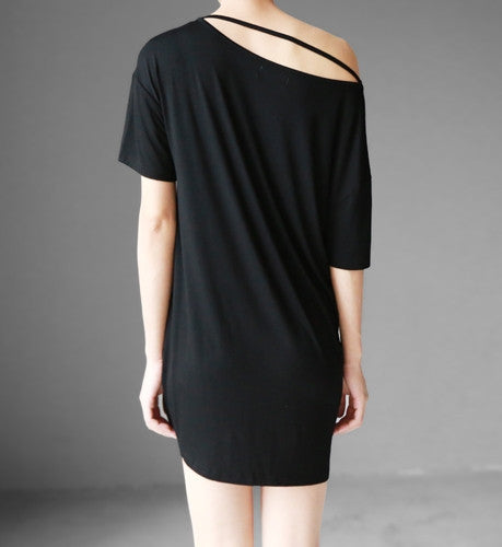Party Top / Women's Blouse / Short Sleeve Top / Designer Blouse Top / Black Sexy Shirt