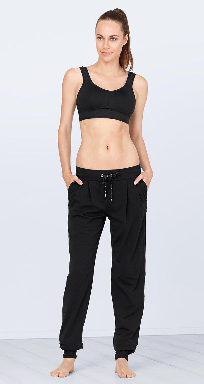 Activewear ! Sports Casual Yoga Fitness Leggings Trouser / Tights With Spats / Extra Long Leggings / Black Pant / Dance yoga wear