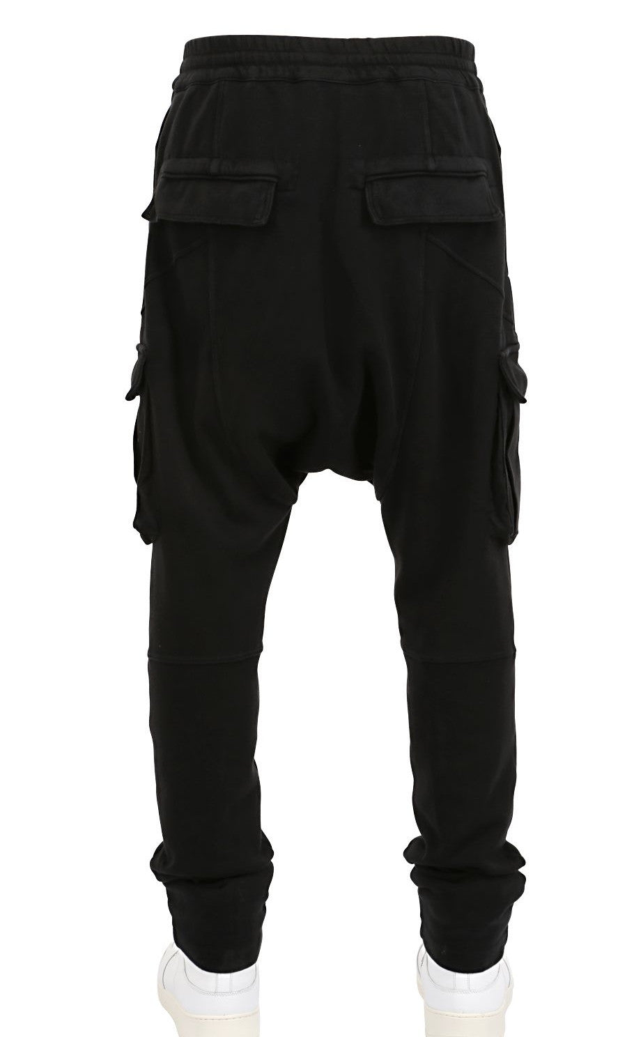 Biker Moto Drop Crotch Droprise Cargo Jogger Pants Jersey Pants / Loose Casual Harem Pants-Trouser