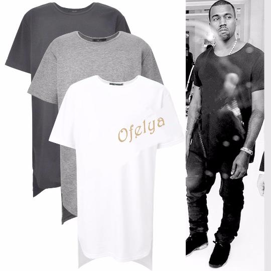 Men Extended Essential Short Sleeve Back Long Tee - 90cm