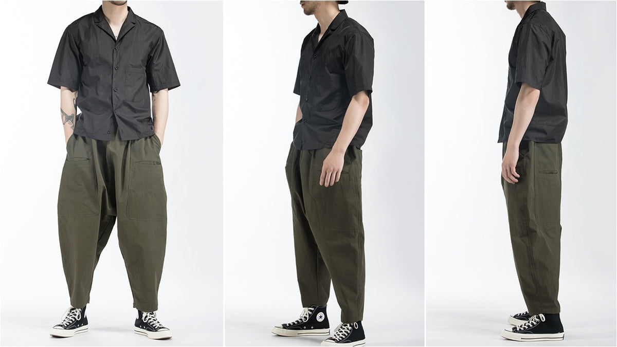 Men's Sarouel Wide Leg Trousers Japanese