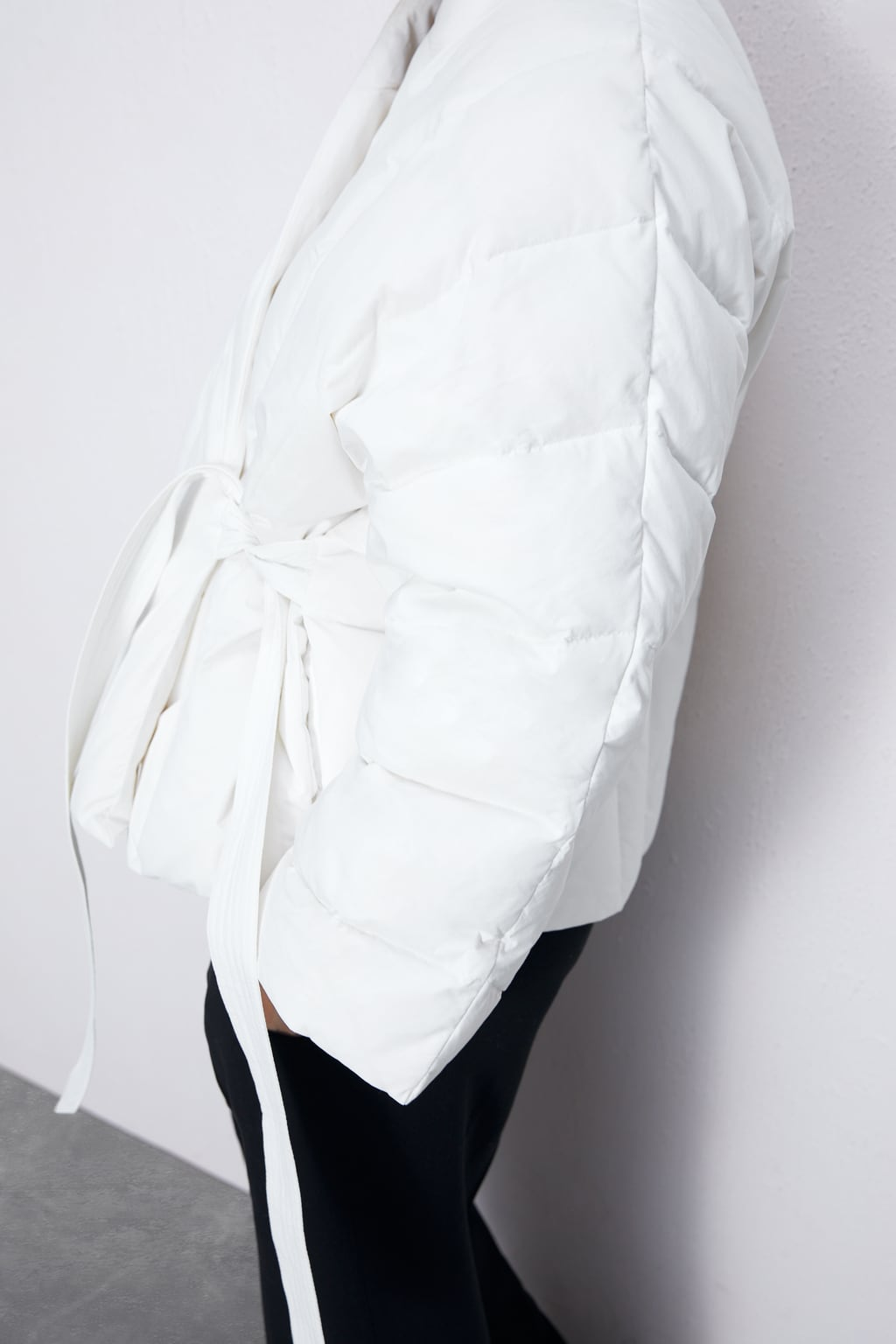 V-Collar Kimono Padded Coat Quilted / Loose KRUVAZE INFLATABLE JACKET