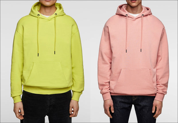 2cc377b6e2c177 2019 OEM Neon Yellow Streetwear Men Long Sleeve Patch Outpocket Hoodie    Custom Pink Gym Wholesale