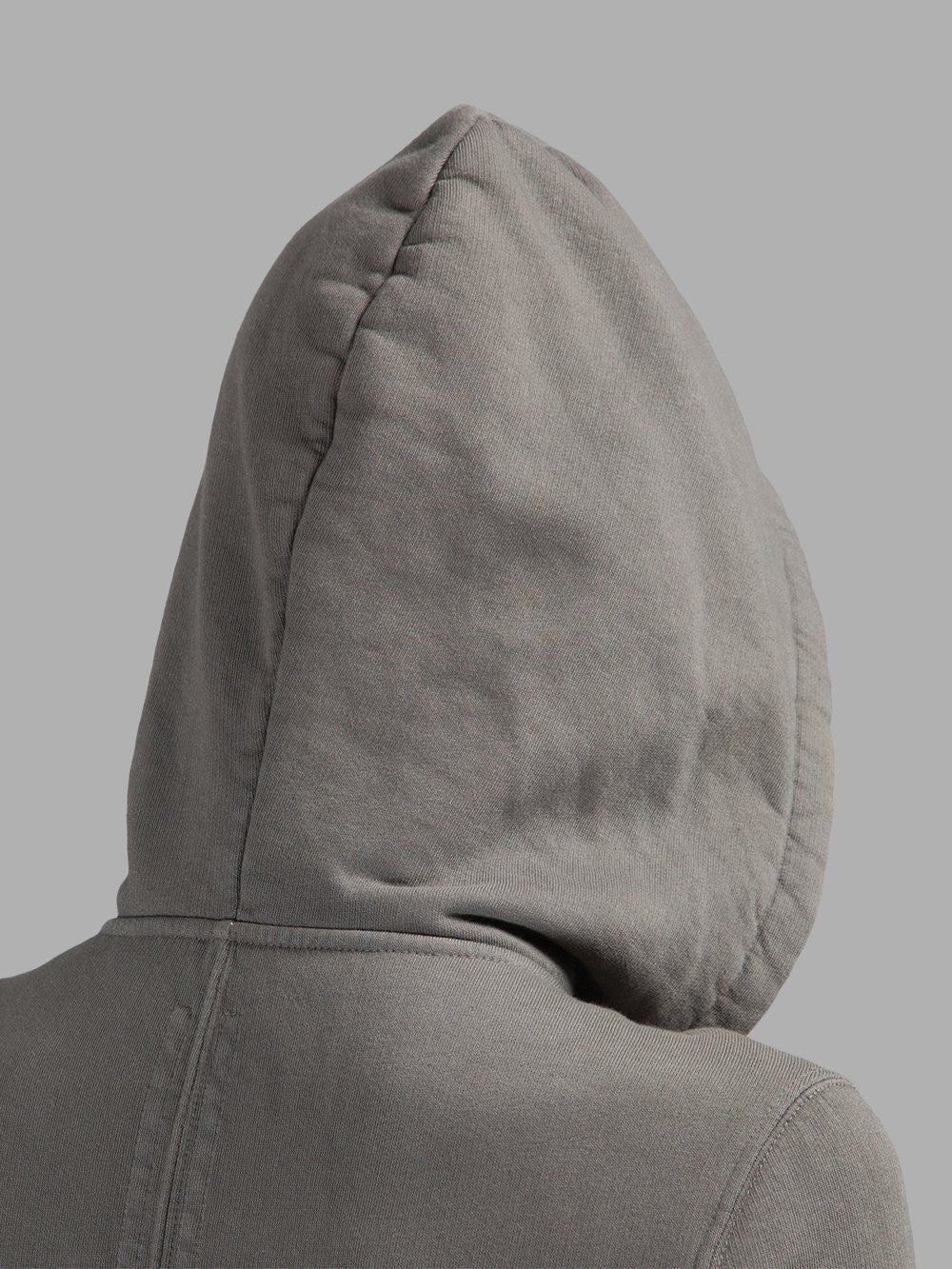 Grey Long Hoodie /Zip Closure  /Two Side Pockets /  Asymmetric Raw Cut Sleeve Seam