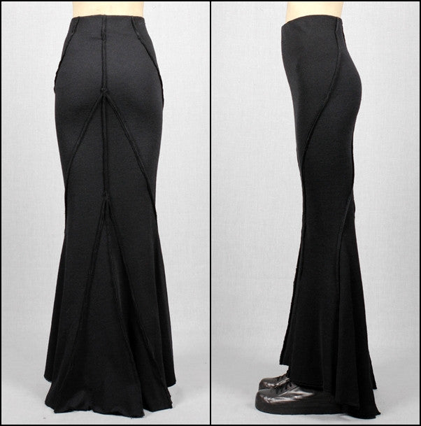 Wool Fish Skirt Back Long High-Waisted Japanese Elegant Fashion Maxi Long Skirt