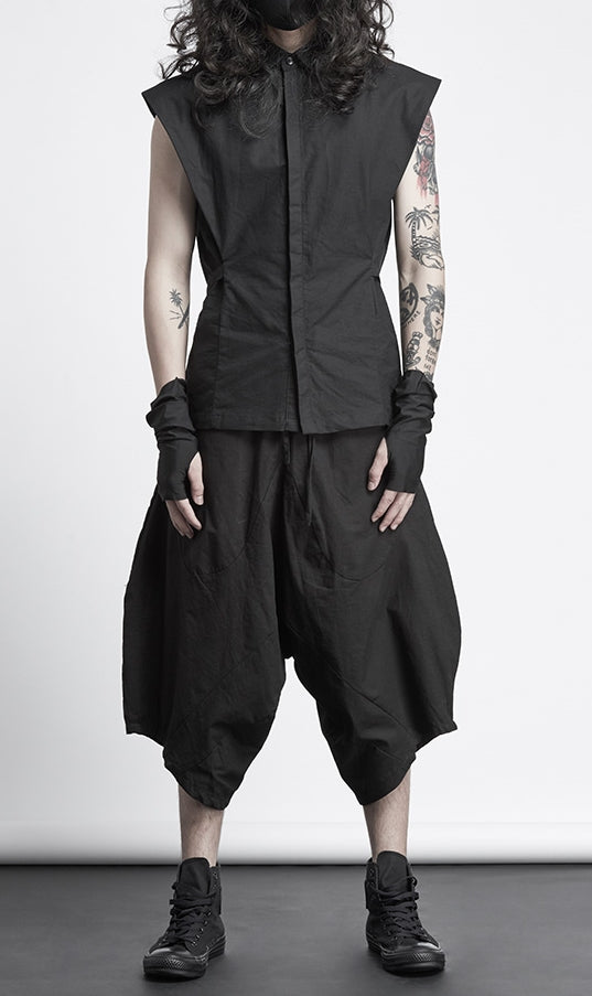 Mens Sarouel Pants - Low Big Drop Crotch Cotton Blend Jogging Pants // Handmade Track Trouser Pants