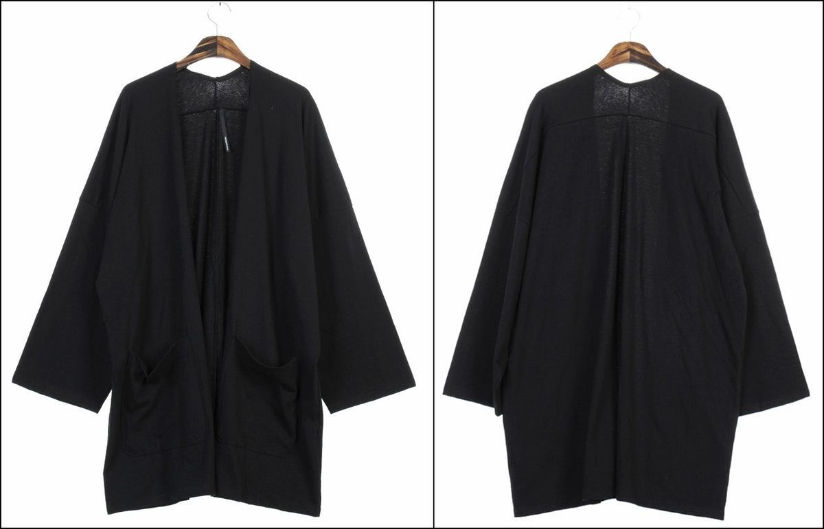 Japanese Oversized 3/4 Sleeve Samurai Long Cotton Jersey Cardigan Kimono jacket