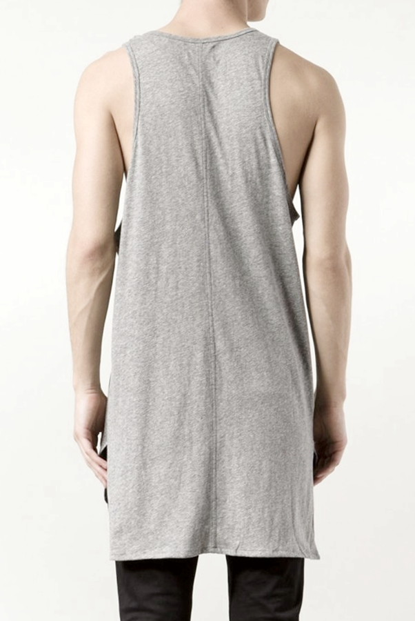 Essential Tank Extended Silky Long Tank Top Back Long Viscose Cotton