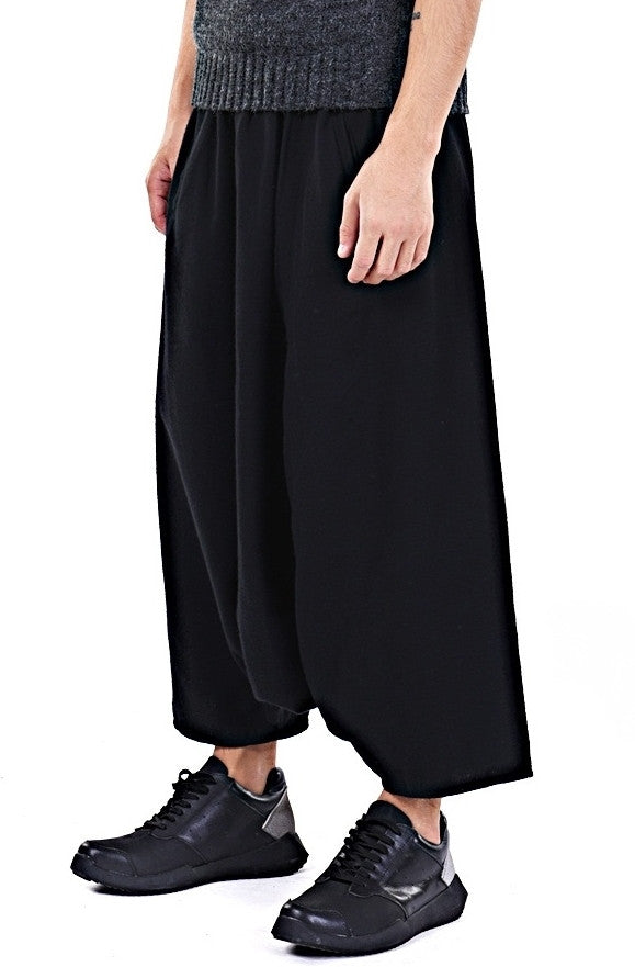 Sarrouel Japanese Wide Leg Stretch Cotton Trouser Yoga Pant / Unisex