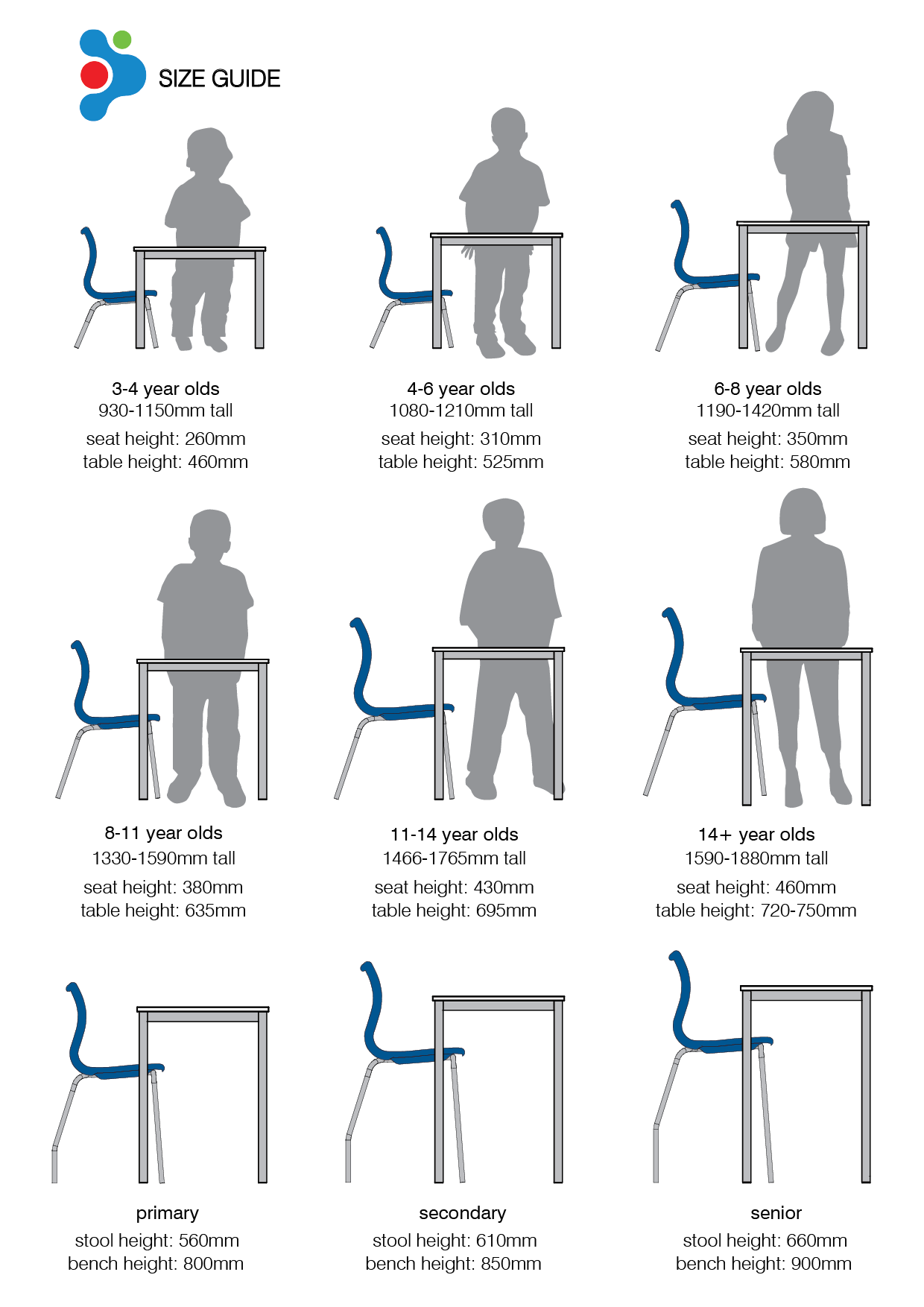 Office Line Furniture Size Guide