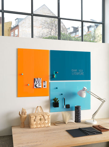 Coloured Magnetic Glassboard 400 x 600