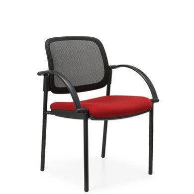 Beta Mesh Chair, 4 Point Black Base with Arms