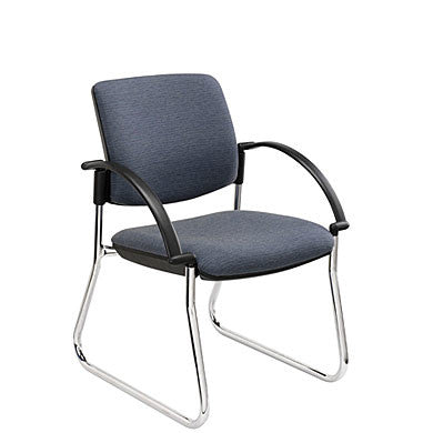 Beta Sled Chair, Chrome Base with Arms