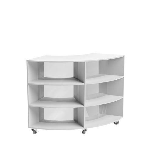 Curved Mobile Bookcase