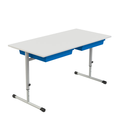 Eduflex Double Desk T Leg With Trays