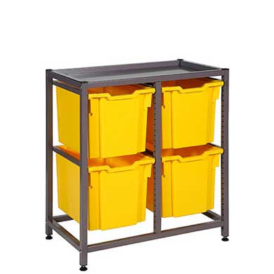 Gratnells Low Frame, 4 Jumbo Trays