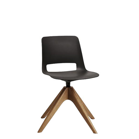 Retro Chair Timber Swivel