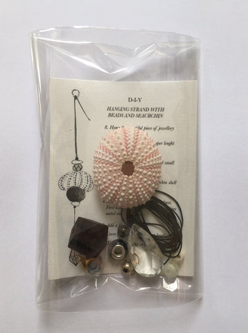 DIY Hanging Sculpture with Seaurchin
