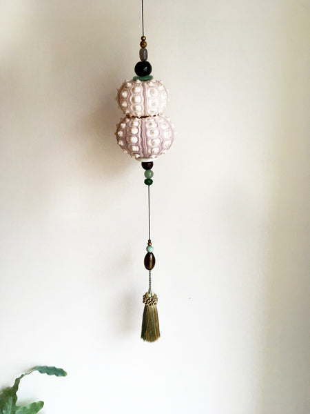 Hanging sculpture with seaurchin - medium