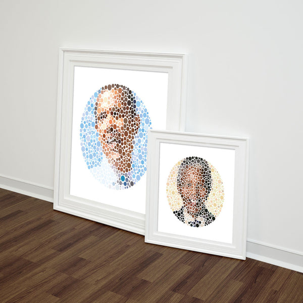 Colour Blind Portraits - Barack Obama
