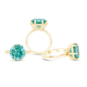 Paraiba Spinel Crown Ring