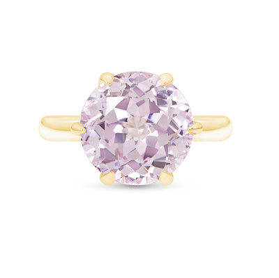 Light Pink Sapphire Crown Ring