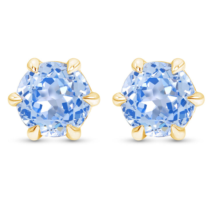 Blue Spinel Crown Studs