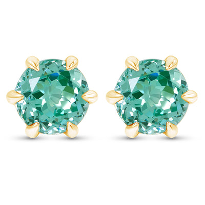 Paraiba Spinel Crown Studs