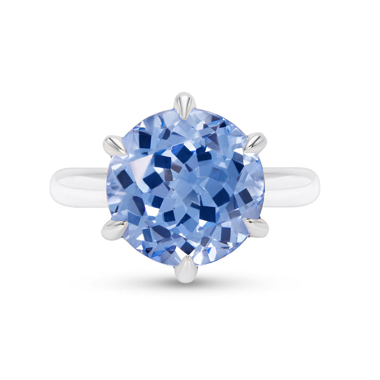 Blue Spinel Crown Ring