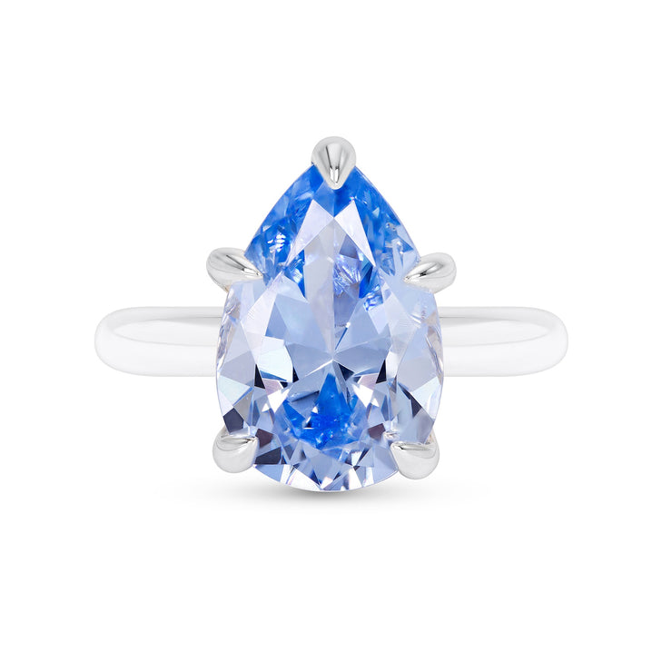 Pear Cut Blue Spinel Ring