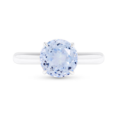 Blue Spinel 3.5 Carat Solitaire Ring