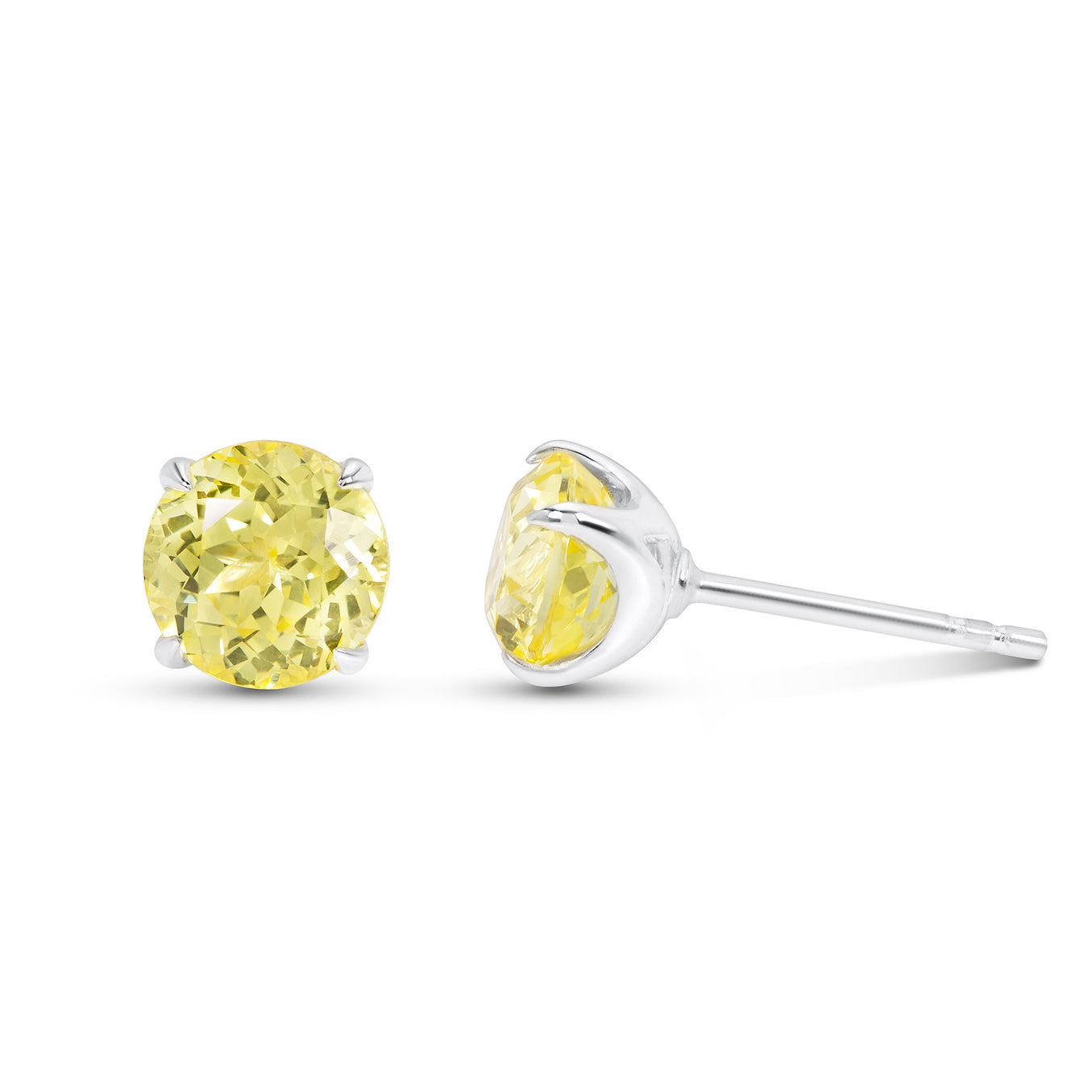 raw earring urban sweet rvati yellow progressive products stud sapphire gemstone earrings