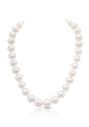 Over Sized Natural White Pearl Statement Necklace