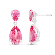 Pear Cut Padparadscha Sapphire Earrings
