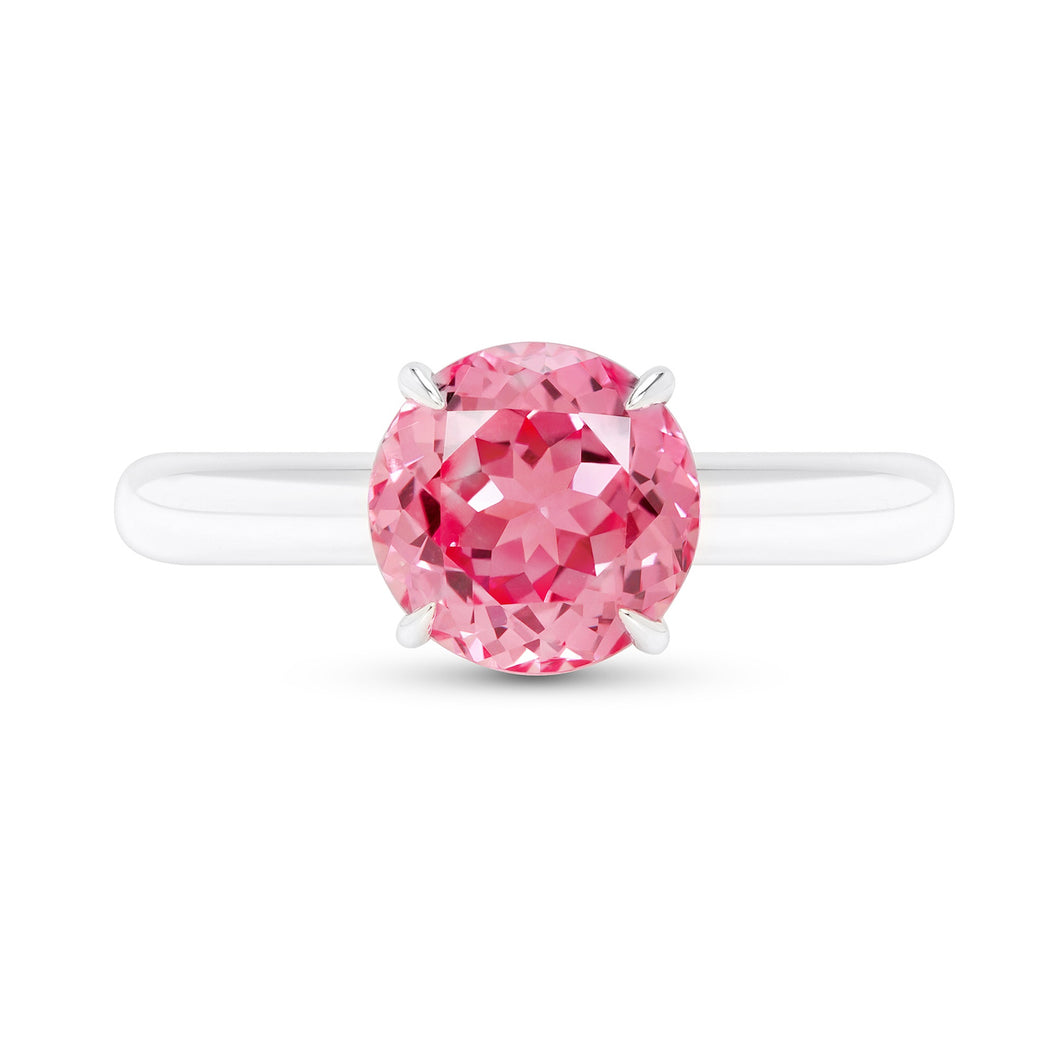 Padparadscha Sapphire Solitaire Ring