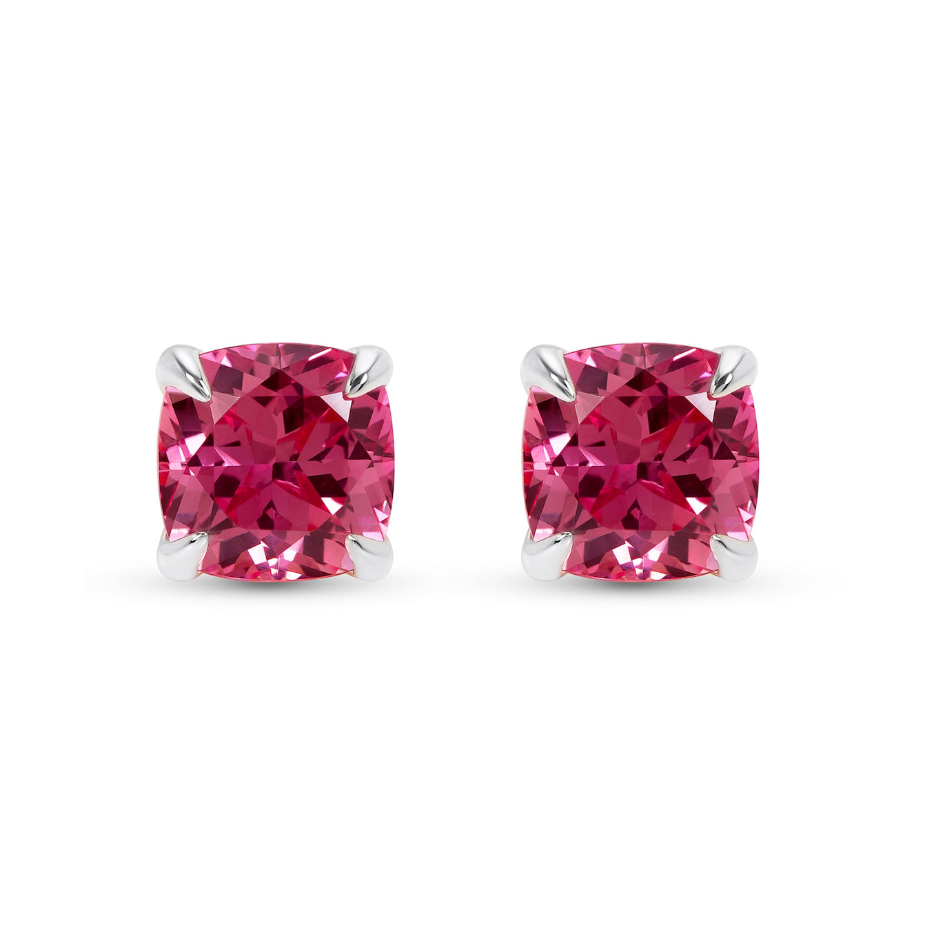 sapphire pin ring platinum padparadscha trilogy and earrings diamond