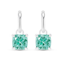 Cushion Cut Paraiba Earrings
