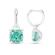 Cushion Cut Paraiba Drop Earrings
