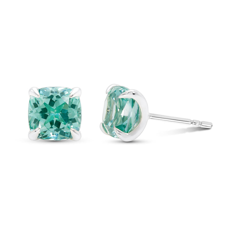 Cushion Cut Paraiba Studs