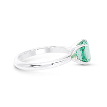 Green Paraiba Solitaire Ring