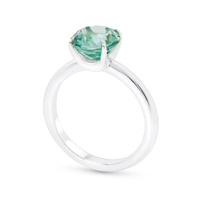 Paraiba Green Gemstone Solitaire Ring