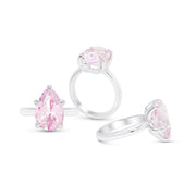 Light Pink Sapphire Pear Cut Ring